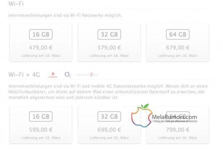Il nuovo iPad costa meno dell'iPad 2 nei paesi con l'euro