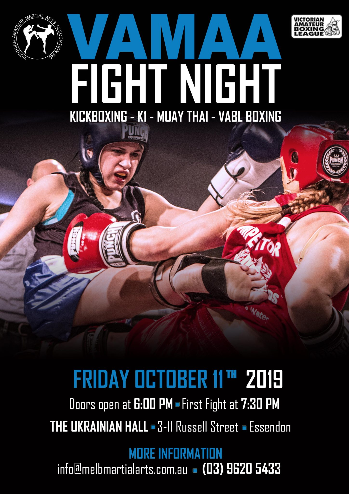 VAMAA Amateur Fight Nights | Melbourne Fight Club