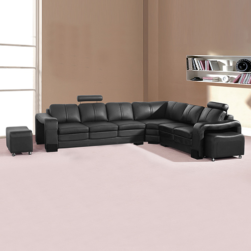 leather sofas online melbourne ligne roset sofa softly buy majestic black 6 seater corner in australia