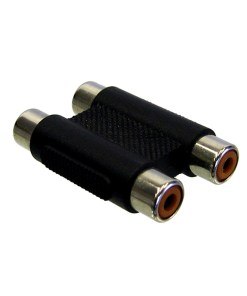 Video Adaptor: Dual RCA to Dual RCA (Joiner)
