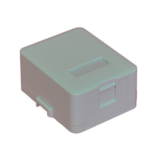 Single Keystone Surface Mount Enclosure with Shutter