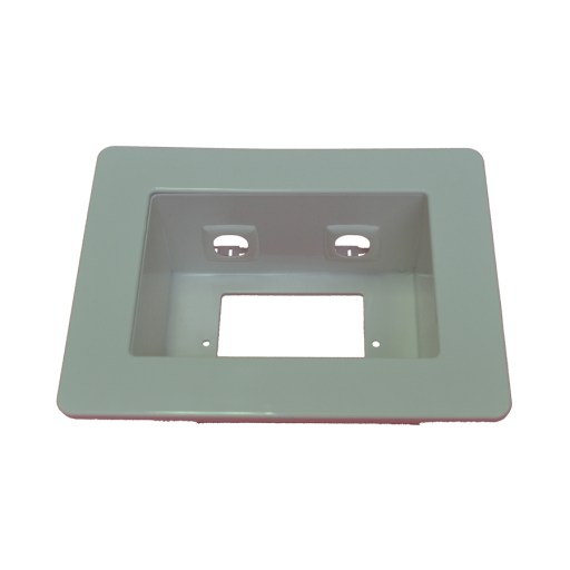 AMDEX Recessed Wall / Media Box - Fits 1 Standard Wall Plate + 2 Additional Inserts, White