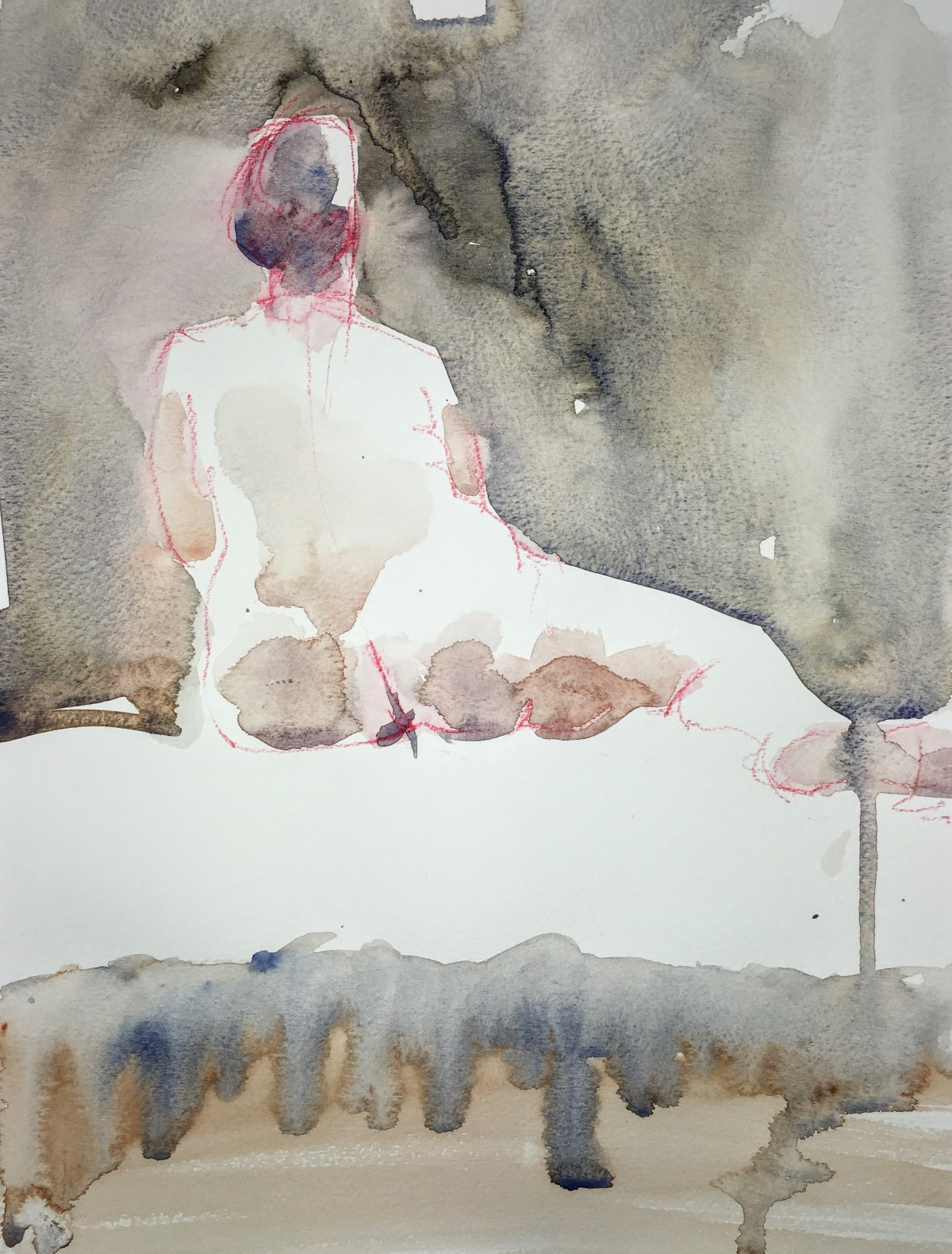Watercolour nude