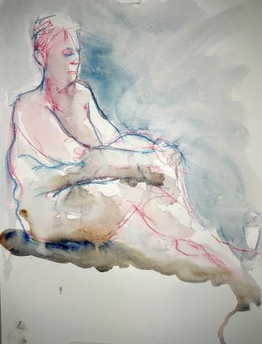 Five minute watercolour figure painting