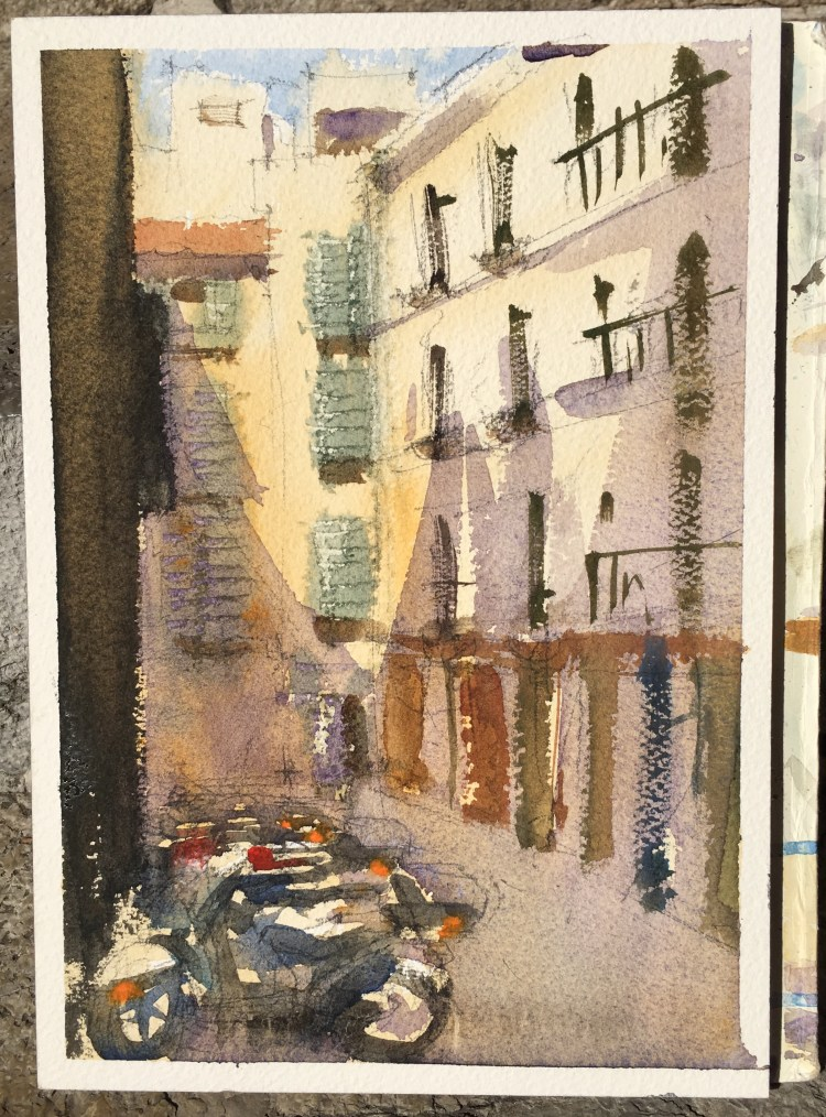 A small and. quick sketch 18 x 26 cm