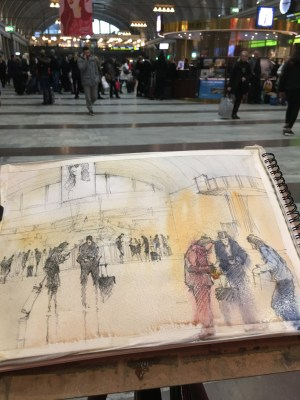 Sketching Stockholm Central Station