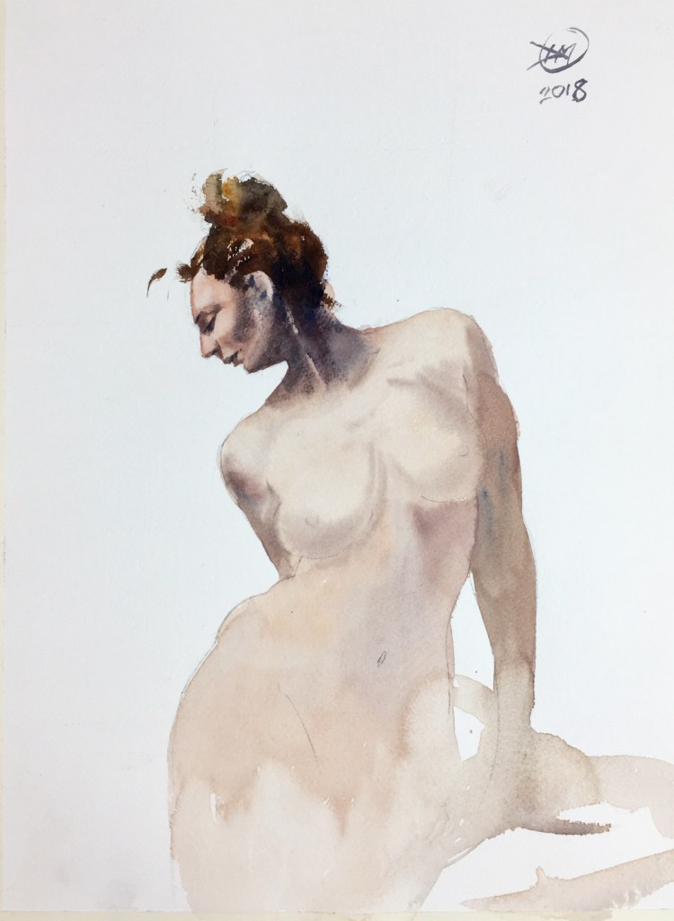 Meldrum - watercolour nude study