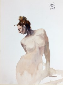 Meldrum - watercolour nude study