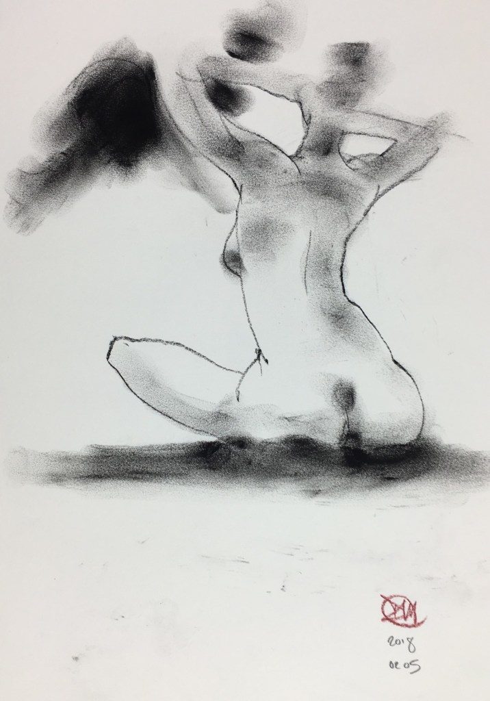 A David Meldrum life drawing