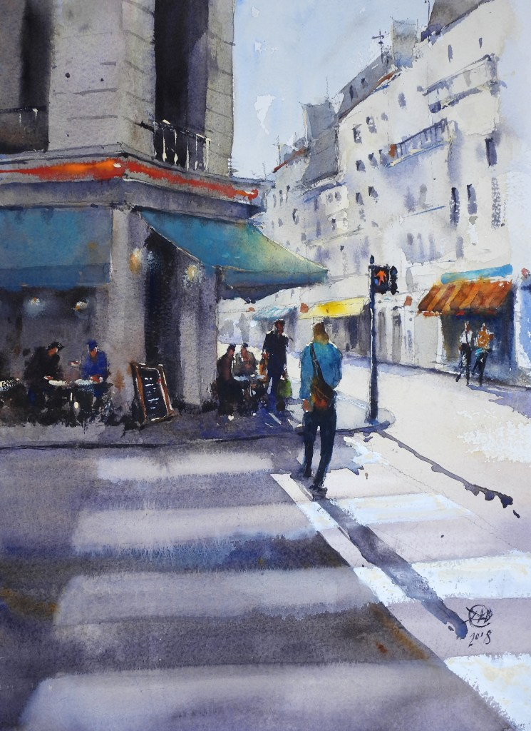Paris Street by meldrum art