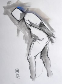 meldrum watercolour nude sketch