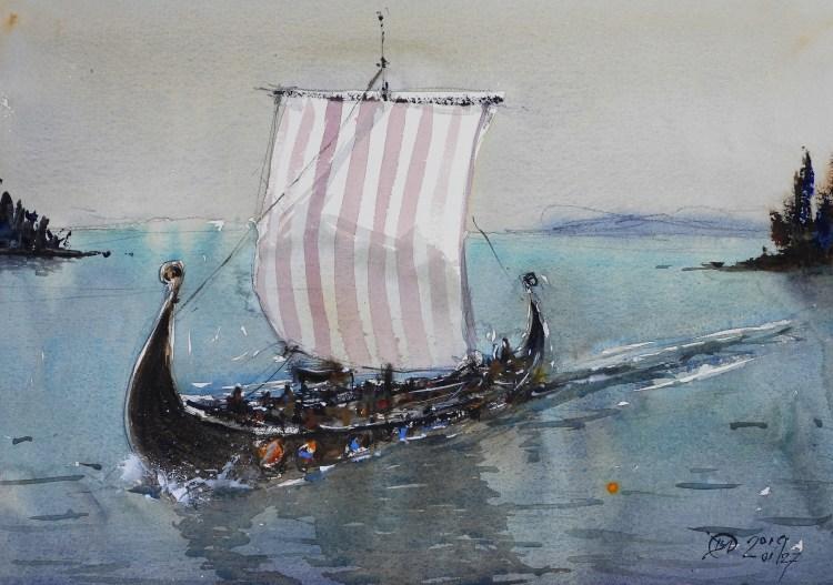 Viking ship - Meldrum Art