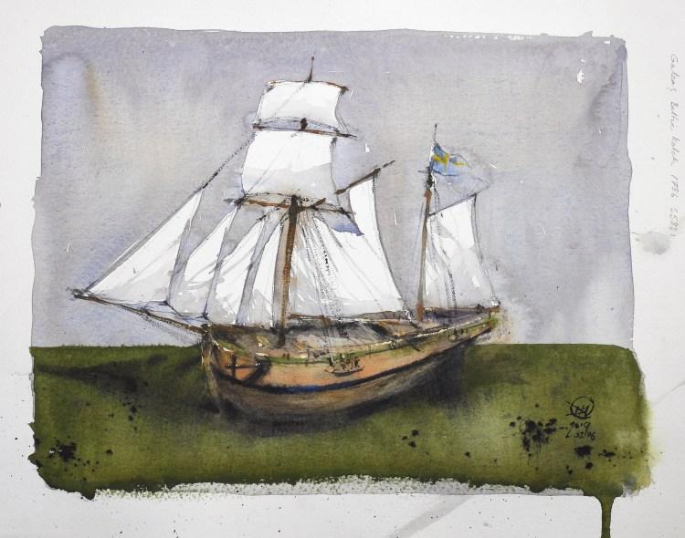 Galeas Baltic ketch 1786 - Meldrum Art