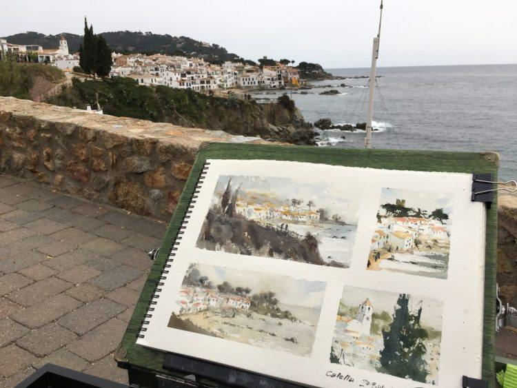 First sketches at Calella