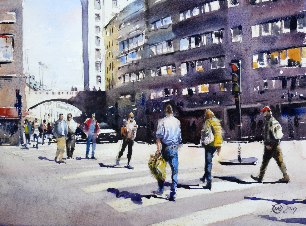 Kungsgatan watercolour
