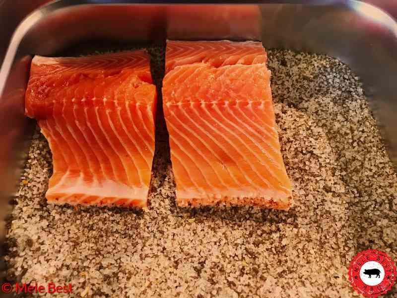 Cold smoked Mediterranean salmon