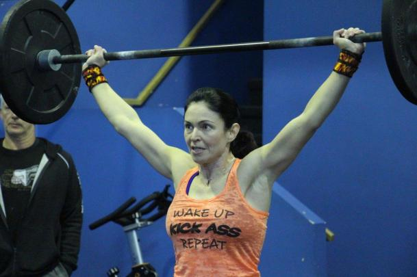 Competing in the WOD throwdown