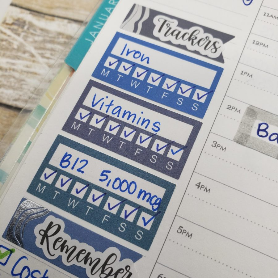 Printable Habit Tracker Stickers for your Planner