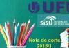 Nota de corte sisu ufu 2016