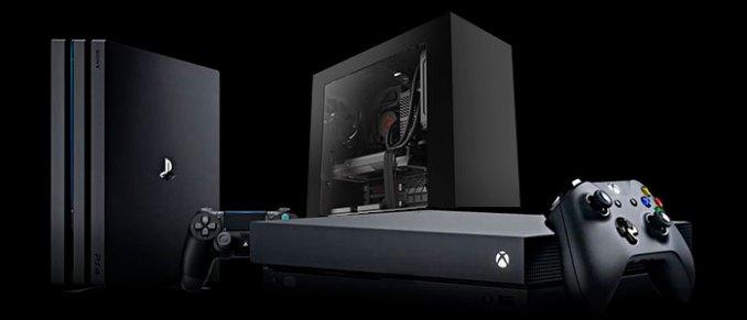Xbox One X PS4 Pro e PC