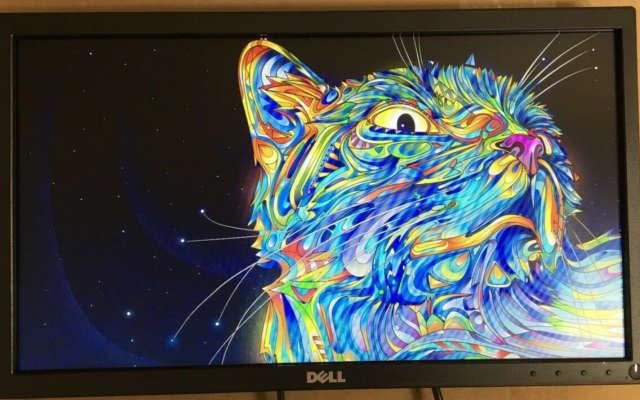 Foto mostrando a qualidade de imagem do monitor