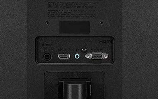 conexões do monitor LG