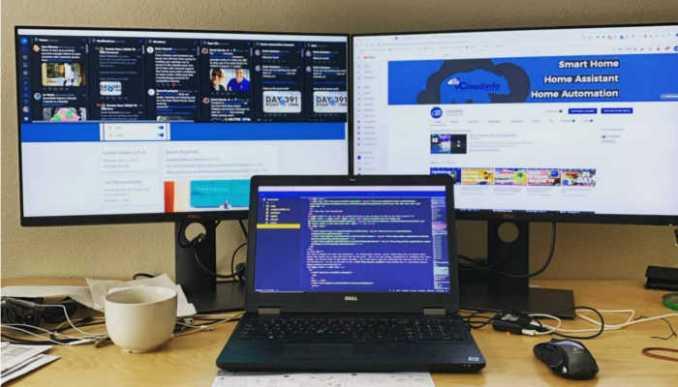 qualidade de imagem e com dois monitores