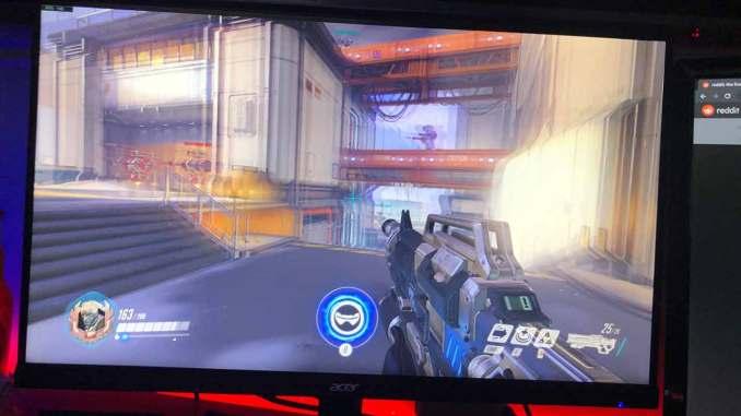 efeito ghosting no monitor durante jogo overwatch