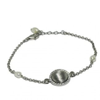 Bracciale donna argento e perle di acqua dolce Kikilia Fashion