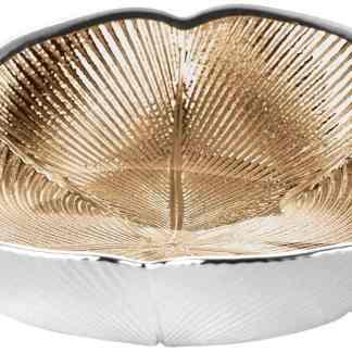 Piatto in vetro e argento Quadrifoglio Argenesi