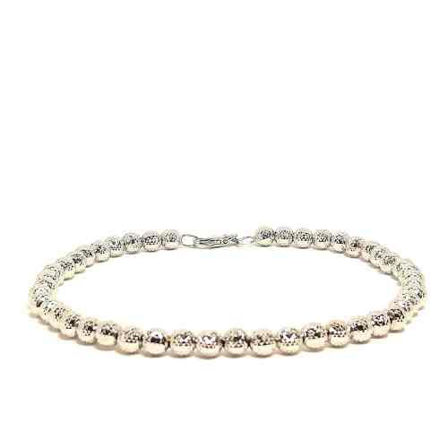 Bracciale in oro bianco Sfere Diamantato 2295M