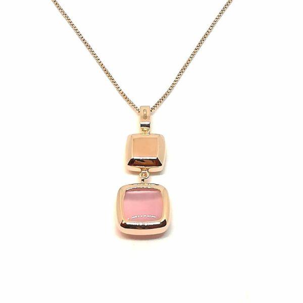 Collana donna in argento rosè e pietre dure Laguna Madì Gioielli