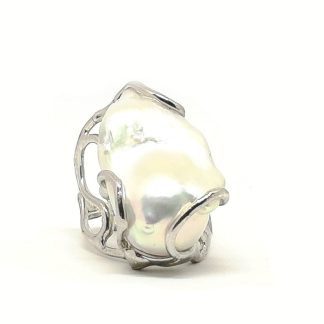 Anello donna in Argento e Perle di Acqua Dolce Della Rovere Gioielli