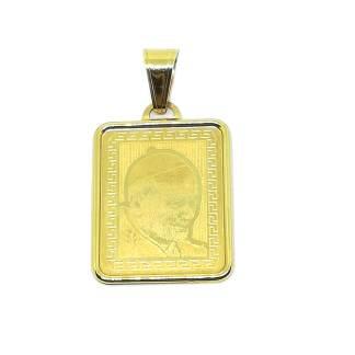 Ciondolo in Oro giallo S. Giovanni Paolo II