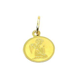 Ciondolo bambino in Oro giallo Angelo in preghiera