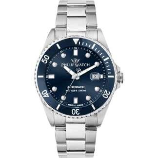 Orologio uomo acciaio acciaio zaffiro Caribe Philip Watch R8223216002