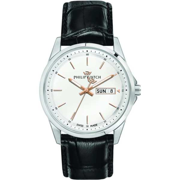 Orologio uomo acciaio pelle zaffiro Capetown Philip Watch R8251212002