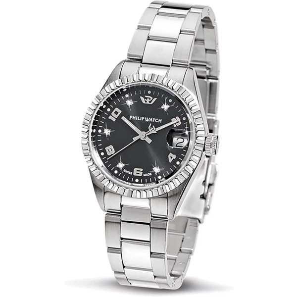 Orologio donna acciaio acciaio diamanti Caribe Philip Watch R8253597559