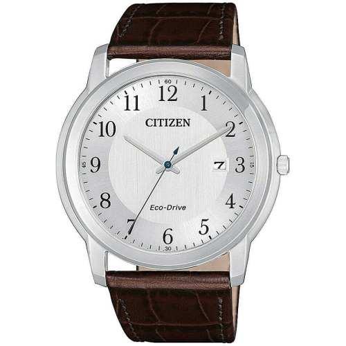 Orologio uomo acciaio pelle minerale Evergreen Citizen AW1211-12A