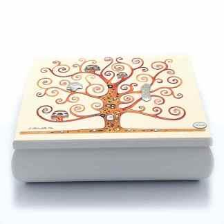 Cofanetto unisex legno argento Albero della vita Acca L.11C albero vita