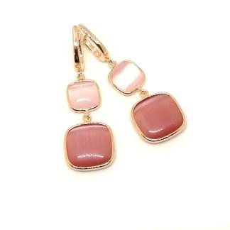 Orecchini donna argento rosè pietre colorate Laguna Madì Gioielli SE0100