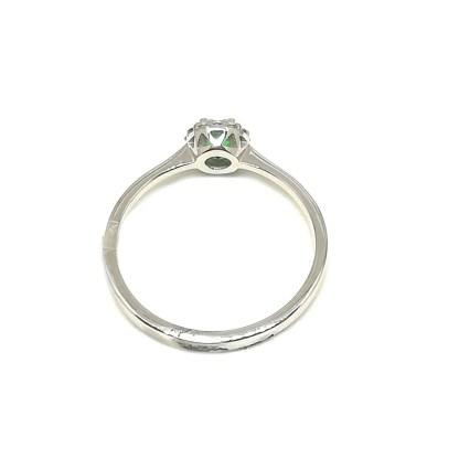 Anello in Oro bianco con Smeraldo e Diamanti Kate