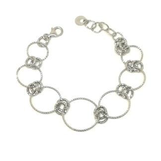 Bracciale donna in argento Diamond Cerchi Madì Gioielli