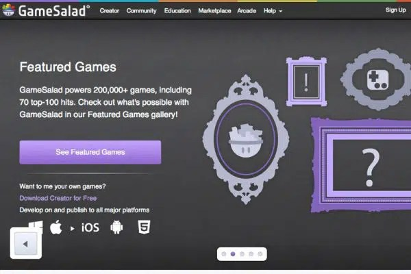 Mobile Application with GameSalad