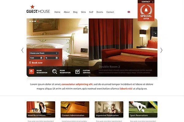 Guesthouse Hotel & Sport Center 2in1 Premium Theme – ThemForest