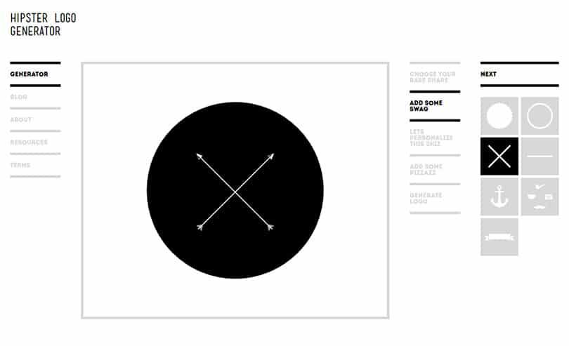 Logo yapmak art k ok kolay for Hipster logo generator