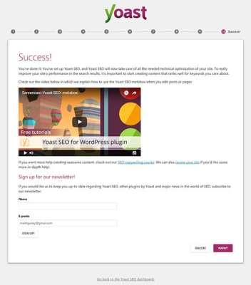 Wordpress Yoast SEO Eklentisinin Kurulum Sihirbazı Onuncu Sayfa