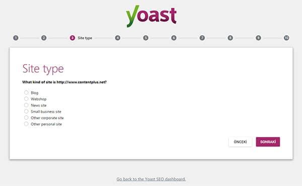 Wordpress Yoast SEO Eklentisinin Kurulum Sihirbazı Üçüncü Sayfa