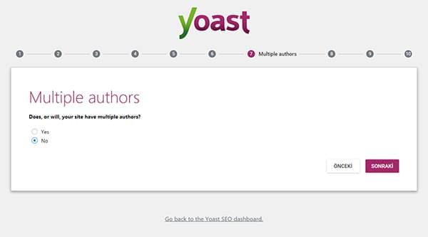 Wordpress Yoast SEO Eklentisinin Kurulum Sihirbazı Yedinci Sayfa