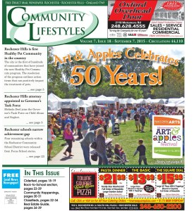 Community Lifestyles Front Page - Sept. 7, 2015